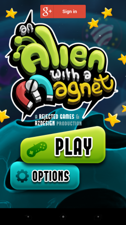 Меню -  An Alien with a Magnet для Android