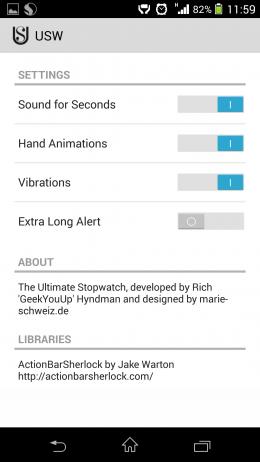 Настройки - Ultimate Stopwatch & Timer для Android
