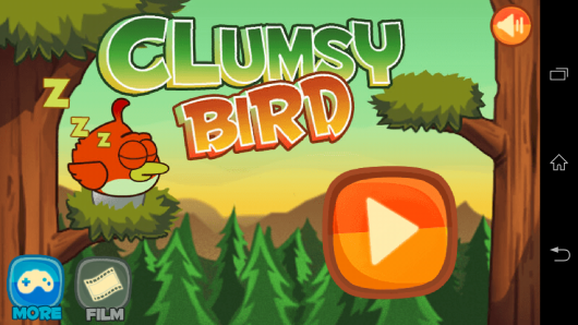 Меню - Clumsy Bird для Android