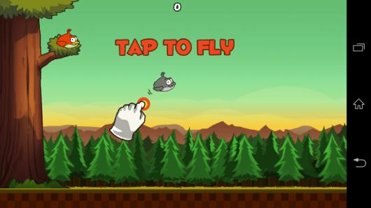 Управление - Clumsy Bird для Android