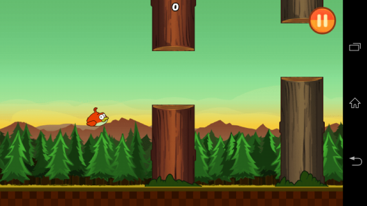 Геймплей - Clumsy Bird для Android