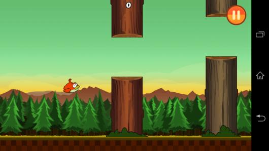 Геймплей - Clumsy Bird для Android