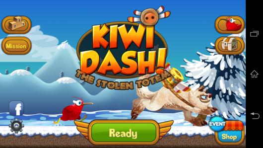 Меню - Kiwi Dash для Android