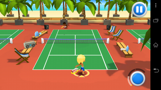 Теннисный матч - One Button Sports для Android