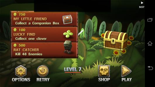 Меню - Minigore 2: Zombies для Android