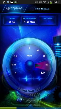 Приложение для проверки скорости интернета Speed Test  для Android