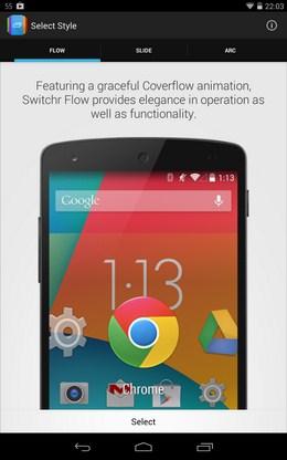 Управление приложениями Switchr для Android