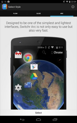 Программа Switchr  для Android