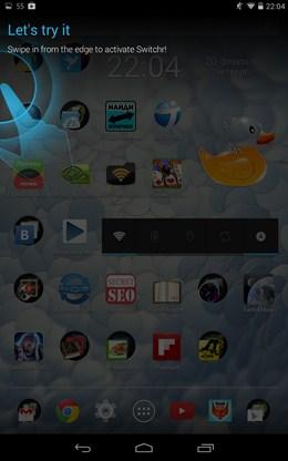 визуализаци и помощь по работе с Управление приложениями Switchr для Android