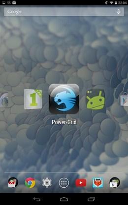 всплывающее горизонтальное меню Управление приложениями Switchr  для Android