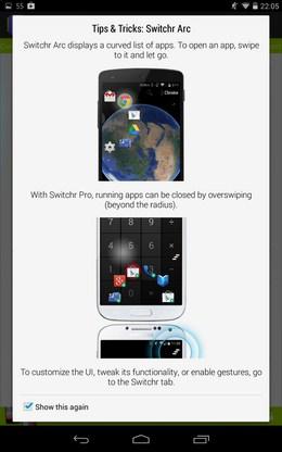 инормация о стиле в Управление приложениями Switchr для Android