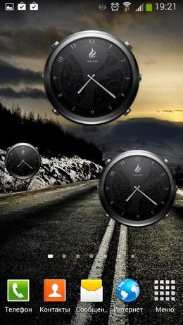 размеры часов виджета Thalion Clock для Android