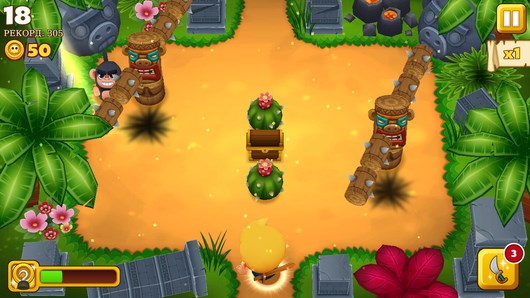 Классный экшн Tiki Monkeys для Android