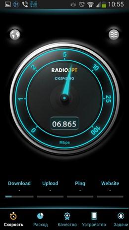 тест скорости интернета Traffic Monitor