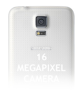 Камера на белом телефоне