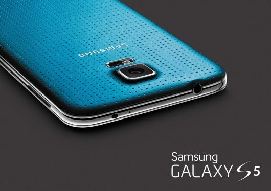 Samsung Galaxy S5. Голубой цвет задней панели