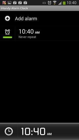 Список будильников - Alarm Clock Free для Android