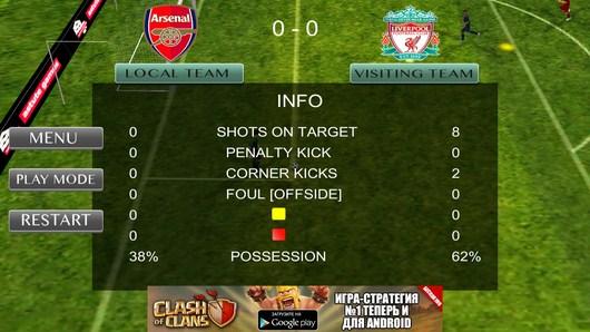 Конец первого тайма - Amazing Football 2014 для Android