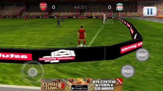 Подача углового - Amazing Football 2014 для Android