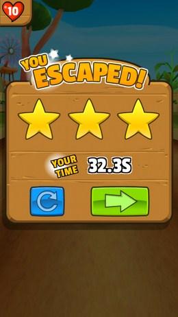 Результаты уровня - Animal Escape для Android
