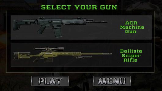 Выбираем винтовку в Army Sniper Shooting для Android