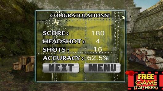 Результаты уровня Army Sniper Shooting для Android