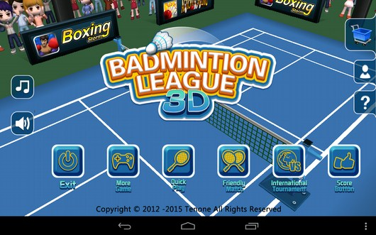 Симулятор Badminton League 3D для Android