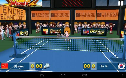 Насыщеная игра Badminton League 3D для Android