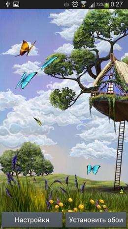 Весенние живые обои Butterfly Meadow для Android