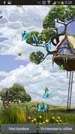 Вид на луг - Butterfly Meadow для Android