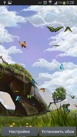 Скролинг изображения - Butterfly Meadow для Android