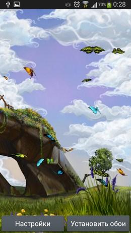 Порхающие бабочки - Butterfly Meadow для Android