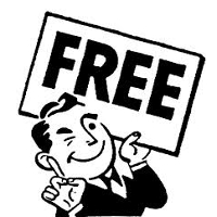 Карикатура человека с надписью Free
