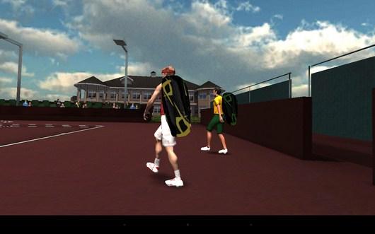 Тенисисты выходят на корт