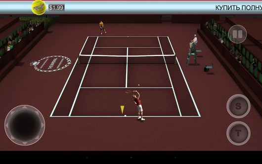 Ваша первая подача - Cross Court Tennis 2 для Android