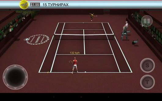 В ожидании удара соперника - Cross Court Tennis 2 для Android
