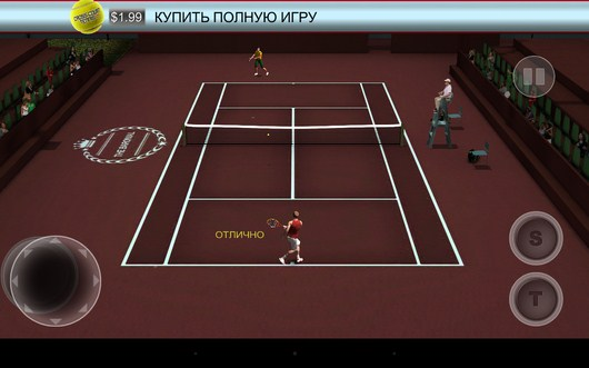 Матч идет - Cross Court Tennis 2 для Android