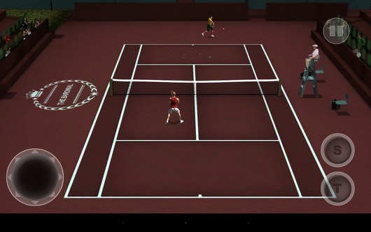 Удар соперника - Cross Court Tennis 2 для Android
