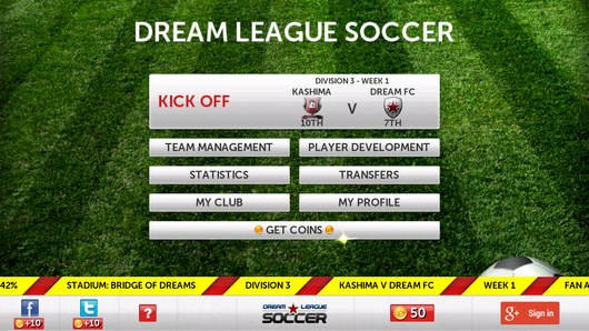 Выбор матча - Dream League Soccer для Android