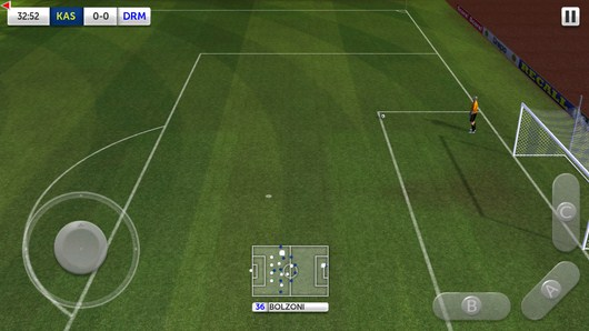Подача от ворот - Dream League Soccer для Android