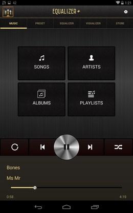 Библиотека музыки - Equalizer + для Android