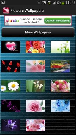 Подборка обоев Flowers Wallpapers для Android