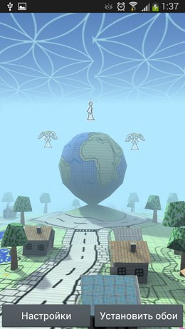 Живые обои Doodle Earth для Android