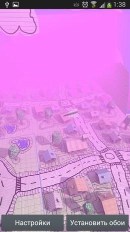 Вид на картонный городок - Doodle Earth для Android