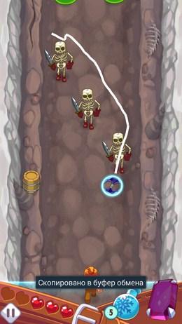 Убиваем скелетов - Monster Slash для Android