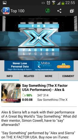 Информация об исполнителе - Music Tube для Android