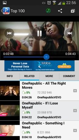 Смотрим видео - Music Tube для Android