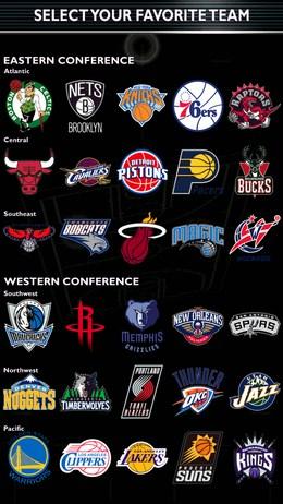 Выбор баскетбольного клуба - NBA 2K14 для Android