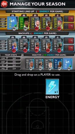 Набор команды перед игрой - NBA 2K14 для Android