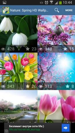Выбор изображения - Nature: Spring для Android